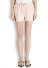 stelle mccartney, crepe shorts